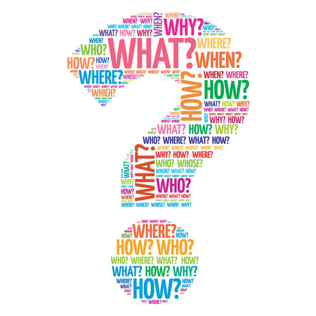 Ilustración de Question mark, Question words concept - Imagen libre de derechos