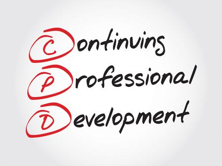 Illustrazione per CPD - Continuing Professional Development, acronym business concept - Immagini Royalty Free