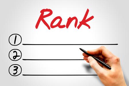 Photo pour Rank blank list - image libre de droit
