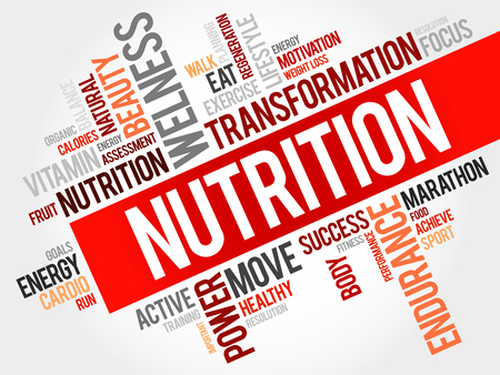 Photo pour Nutrition word cloud - image libre de droit