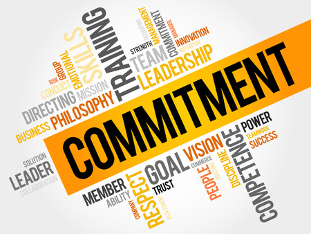 Illustration pour Commitment word cloud, business concept - image libre de droit