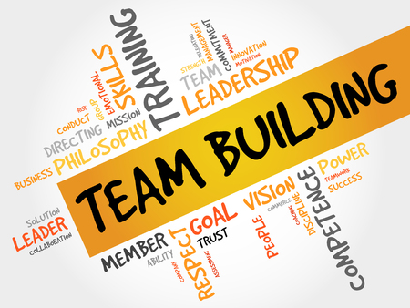 Ilustración de TEAM BUILDING word cloud, business concept - Imagen libre de derechos