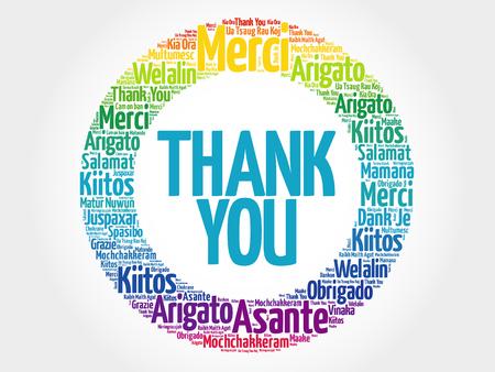 Illustration pour Thank You Word Cloud background, all languages - image libre de droit