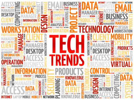 Illustration pour Tech Trends word cloud concept - image libre de droit