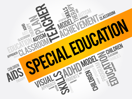 Illustration for Special Education word cloud collage, education concept background - Royalty Free Image