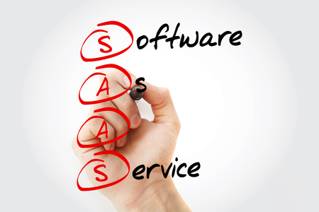 Photo for SAAS - Software As A Service, acronym business concept - Royalty Free Image