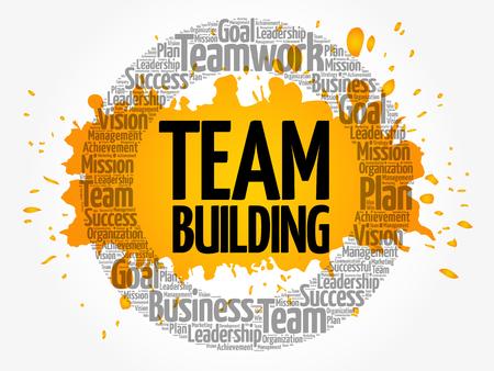 Illustration pour Team Building word cloud collage, business concept background - image libre de droit