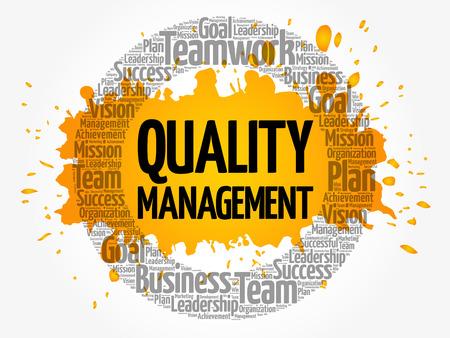 Ilustración de Quality Management word cloud collage, business concept background - Imagen libre de derechos