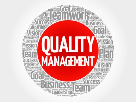 Ilustración de Quality Management circle word cloud, business concept - Imagen libre de derechos