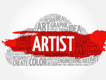 Illustrazione per ARTIST word cloud, creative business concept background. - Immagini Royalty Free