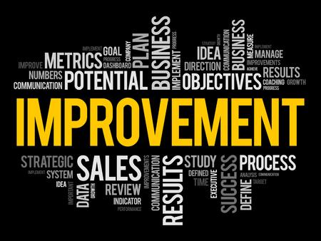 Ilustración de Improvement word cloud collage, business concept background - Imagen libre de derechos