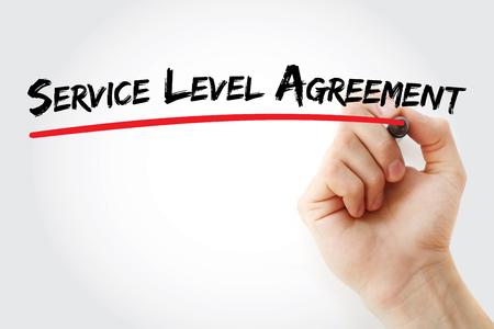 Photo pour SLA - Service Level Agreement acronym, business concept background - image libre de droit