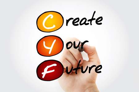 Photo pour CYF - Create Your Future, acronym concept background - image libre de droit