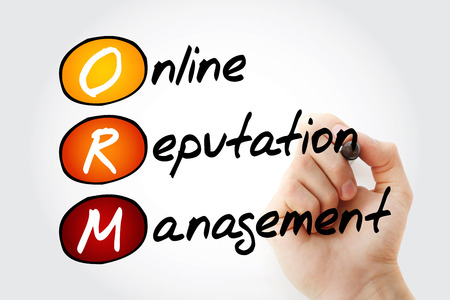 Foto per ORM - Online Reputation Management, acronym business concept background - Immagine Royalty Free