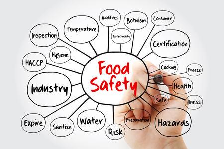 Photo for Food safety mind map flowchart with marker, concept for presentations and reports - Royalty Free Image