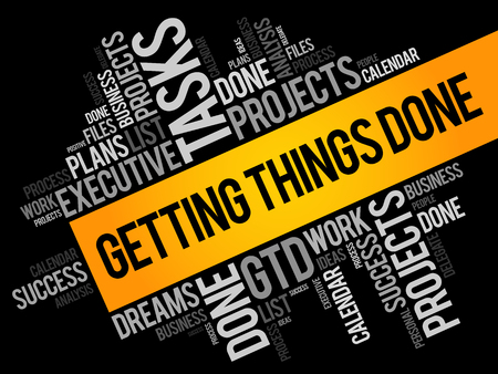 Ilustración de Getting Things Done Word Cloud, Business Concept Background - Imagen libre de derechos