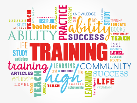 Illustration for TRAINING word cloud collage, education concept background - Royalty Free Image