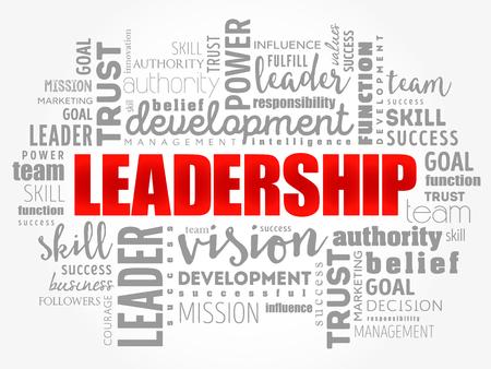 Ilustración de LEADERSHIP word cloud collage, business concept background - Imagen libre de derechos