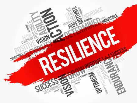 Illustrazione per Resilience word cloud collage, business concept background - Immagini Royalty Free