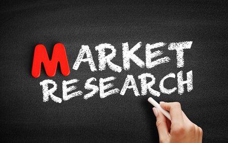 Photo pour Market Research text on blackboard, business concept background - image libre de droit
