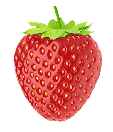 Photo pour Fresh strawberry isolated on a white background. - image libre de droit