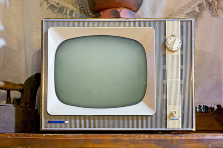 Photo for Old tv set in vintage interior - Royalty Free Image
