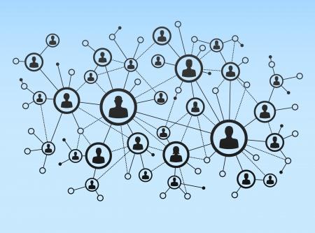 Ilustración de Network connection - Imagen libre de derechos