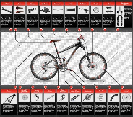 Illustration pour full suspension MTB - image libre de droit