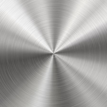 Illustration pour Technology background with polished, brushed metal, radial texture of alloy, titan, steel, chrome, nickel. EPS 10 contains transparency - image libre de droit