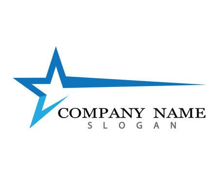 Illustration for Star Logo Template vector icon illustration design - Royalty Free Image