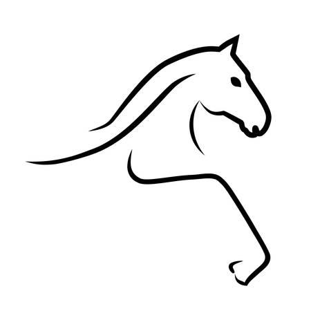 Illustration pour horse - sign  - image libre de droit