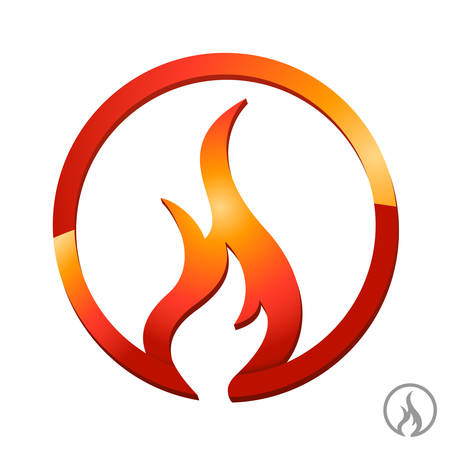 Illustration for fire, flame icon - Royalty Free Image