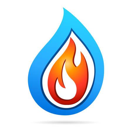 Illustration pour fire and water - icon design - image libre de droit