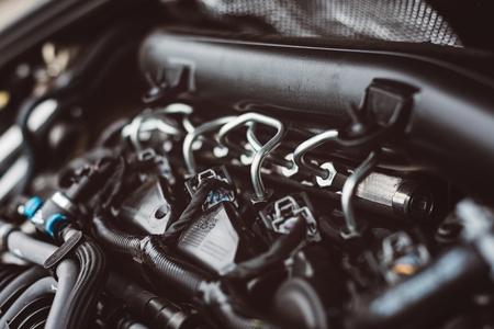 Photo pour Modern turbocharged diesel engine fuel supply system - image libre de droit