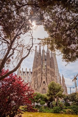 Foto de Sagrada Familia basilica in Barcelona, Catalonia, Spain - Imagen libre de derechos