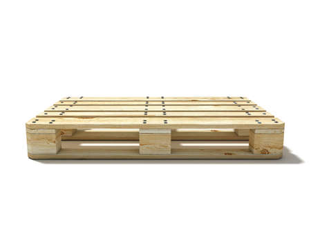 Photo for Euro pallet. Side view. 3D render illustration isolated on white background - Royalty Free Image