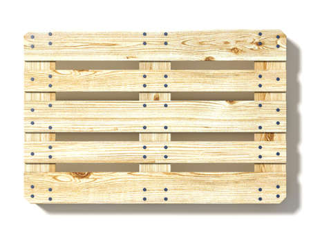 Photo for Euro pallet. Top view. 3D render illustration isolated on white background - Royalty Free Image