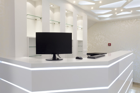 Photo for white hotel reception empty space - Royalty Free Image