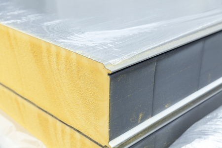 Photo for detail of insulation panel, close up - Royalty Free Image