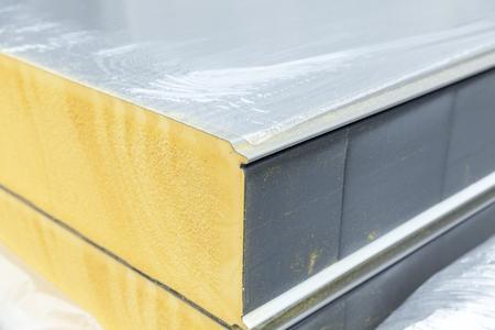 Foto de detail of insulation panel, close up - Imagen libre de derechos