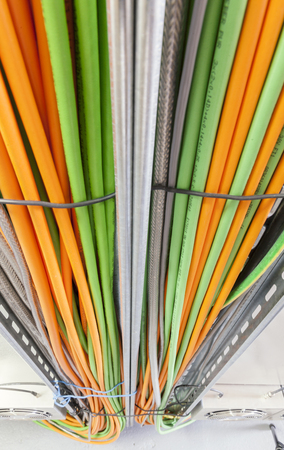 Photo for power cable system, close up - Royalty Free Image