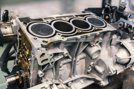 Photo pour Car engine on service, close up - image libre de droit