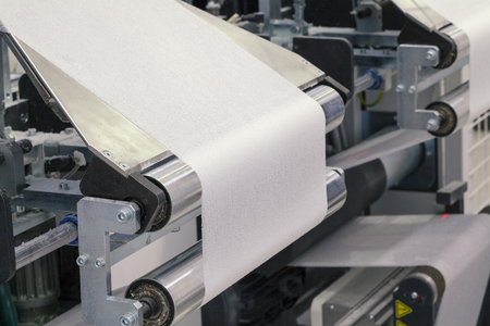 Photo for paper roll machine, cut and fold - Royalty Free Image