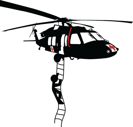 Illustration pour rescue helicopter - image libre de droit