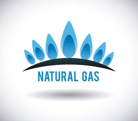 Illustration for gas natural graphic design , illustration - Royalty Free Image