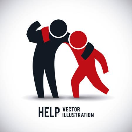 Illustrazione per help graphic design , illustration - Immagini Royalty Free