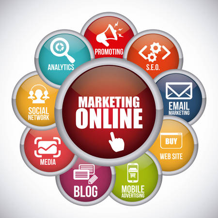 Ilustración de marketing online design, vector illustration eps10 graphic - Imagen libre de derechos