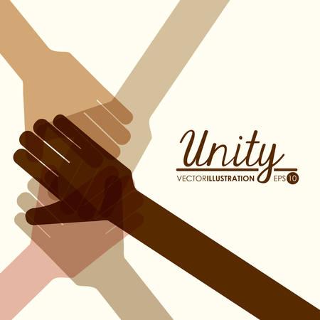 Illustration pour unity people design, vector illustration eps10 graphic - image libre de droit