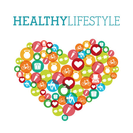 Photo pour healthy lifestyle design, vector illustration eps10 graphic - image libre de droit