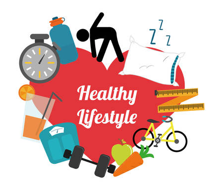 Photo for healthy lifestyle design, vector illustration eps10 graphic - Royalty Free Image